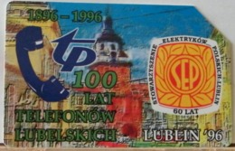 PO108 - POLONIA - POLSKA , URMET - 25 -  LUBLIN 96 -LUBLINO 100 ANNI TP TELEFONO LUBELSKICH - Pologne