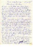 Lettre Manuscrite 1977 Simone Pierre Toret Villaz Courbevoie Gare Lyon Gare Du Nord Herbault - Manuscrits