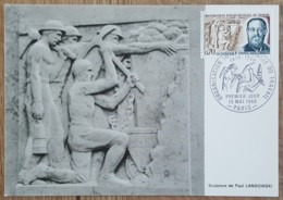 CM 1969 - YT N°1600 - ORGANISATION INTERNATIONALE DU TRAVAIL / OIT - PARIS - Maximum Cards