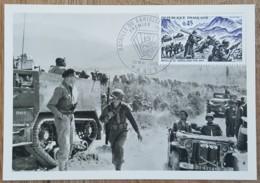 CM 1969 - YT N°1601 - BATAILLE DE GARIGLIANO - PARIS - Maximum Cards