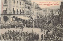 ST DIE LA GUERRE DANS LES VOSGES MILITARIA GUERRE 14/18 LA DERNIERE REVUE DU 14 JUILLET 1914 DEFILE - Weltkrieg 1914-18