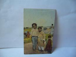 SALONICCO ZINGARELLE SALONIQUE FILLETTES TZIGANES SALONICA GYPSY GIRLS GRECE SALONIQUE CPA 1918 - Grecia