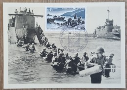 CM 1969 - YT N°1605 - LIBERATION / DEBARQUEMENT FRANCAIS EN PROVENCE - SAINT RAPHAEL - Maximum Cards