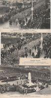 3 CPA:CHALONS SUR MARNE (51) CÉRÉMONIE CIMETIÈRE MILITAIRE,PRISONNIERS ALLEMANDS FAUBOURG DE LA MARNE GUERRE 1914-1916 - Châlons-sur-Marne