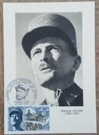 CM 1969 - YT N°1607 - LIBERATION / GENERAL LECLERC MARECHAL DE FRANCE - PARIS - Maximum Cards