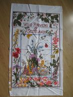 """Torchon Coton  """"wild Flowers Of Scotland"""" - Autres"""