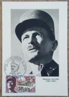 CM 1969 - YT N°1608 - LIBERATION / GENERAL LECLERC MARECHAL DE FRANCE - STRASBOURG - Maximum Cards