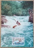 CM 1969 - YT N°1609 - CHAMPIONNATS DU MONDE DE CANOE KAYAK - BOURG SAINT MAURICE - Maximum Cards