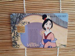 Disney Mulan Phonecard Used - Belgique
