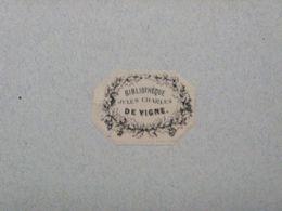 Ex-libris Typographique XIXème - BELGIQUE - JULES CHARLES DE VIGNE - Ex Libris