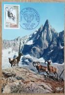 CM 1969 - YT N°1613 - FONDS MONDIAL POUR LA NATURE / MOUFLON - PARIS - Maximum Cards