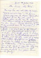 Lettre Manuscrite 1977 Simone Pierre Toret Coutat Villaz - Manuscrits