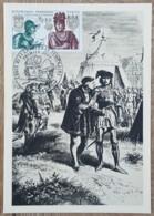 CM 1969 - YT N°1616 - LOUIS XI ET CHARLES LE TEMERAIRE - PARIS - Maximum Cards