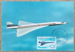 CM 1969 - YT Aérien N°43 - CONCORDE PREMIER VOL - TOULOUSE - Maximum Cards
