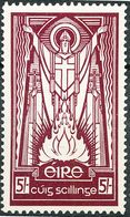 Ireland 1937 KGVI 5s Maroon MH. SG 103. Sc 97. - Unused Stamps
