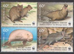 AUSTRALIE AAT 2011 4 TP WWF For Nature 50 Années - Territoire Antarctique Australien (AAT)