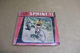 """Album Panini édition Belge """"Sprint 71"""" - Cyclisme - Merckx En Couverture - Complet - Taches Et Traces De Collants - - Panini"""