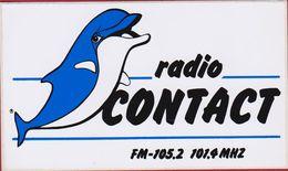 Vrije Radio Station Contact FM Radiodiffusion Dolfijn Dolphin Dauphin Sticker Adesivo Aufkleber Autocollant - Stickers