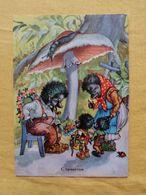 Hedgehogs Mushroom Family - Fairy Tales, Popular Stories & Legends