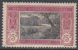 Ivory Coast 1926 - Definitive Stamp: Boat At The Ebrié Lagoon - Mi 73 * MH (gum Defect) [980] - Neufs