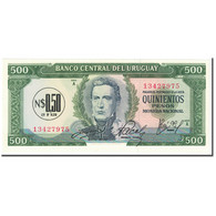 Billet, Uruguay, 0.50 Nuevo Peso On 500 Pesos, 1975, Undated (1975), KM:54, NEUF - Uruguay