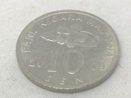 Moneda 2009. 10 Sen. Malasia. KM 51. MBC - Malaysie