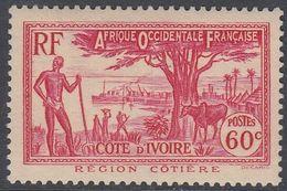 Ivory Coast 1936 - Definitive Stamp: Coastal Landscape With Acacia Tree - Mi 129 * MLH [981] - Unused Stamps