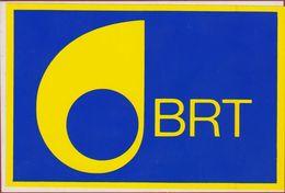 BRT Televisie Television LOGO Sticker Adesivo Aufkleber Autocollant - Stickers