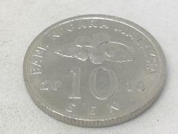 Moneda 2010. 10 Sen. Malasia. KM 51. MBC - Malaysie