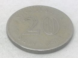 Moneda 1973. 20 Sen. Malasia. KM 4. MBC - Malaysie