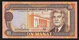 "10 Manat     ""TURKMENISTAN""      UNC      Ro 72 - Turkménistan"