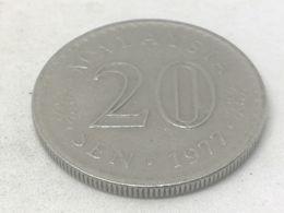Moneda 1977. 20 Sen. Malasia. KM 4. MBC - Malaysie