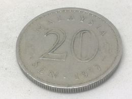 Moneda 1977. 20 Sen. Malasia. KM 4. MBC - Malaysia