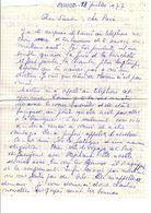 Lettre Manuscrite 1977 Simone Pierre Toret Mr Thialer Espagne Lesne Mme Meneudez Villaz Contat - Manuscrits