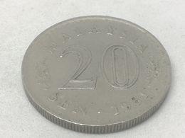Moneda 1981. 20 Sen. Malasia. KM 4. MBC - Malaysie