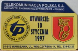 PO116 - POLONIA - POLSKA , URMET - 50 -  VARSAVIA NUOVA APERTURA CENTRO TELECOMUNICAZIONI TP - Pologne