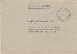 """All.Besetzung / 1946 / Brief (Drucksache) Stegstempel """"MUENCHEN-BEZAHLT"""" (CA49) - Gemeinschaftsausgaben"""
