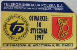 PO117 - POLONIA - POLSKA , URMET - 25 -  VARSAVIA NUOVA APERTURA CENTRO TELECOMUNICAZIONI TP - Pologne