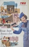 Aviazione - Pubblicità - Brochure - Compagnia Aerea TWA - Anni '60 - Livres, BD, Revues
