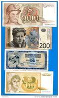 Yougoslavie   12  Billets - Joegoslavië