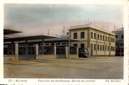 [ALICANTE / ESTACION DE AUTOBUSES .. SALIDA DE COCHES LEGER PLI COIN GAUCHE  HAUT   ///5 - Alicante