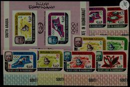 ADEN (QU`AITI STATE IN HADHRAMAUT) 1966 INTERNATIONAL CO-OPERATION YEAR SET IMPERF MI No 88-95+ BLOCK 3B MNH VF!! - United Arab Emirates