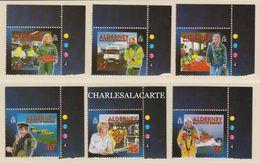 ALDERNEY AURIGNY 2002  COMMUNITY & MEDICAL SERVICES  2ND. SERIES   S.G. 197-202 U.M.  N.S.C. - Alderney