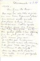 Lettre Manuscrite 1977 Simone Pierre Toret Villaz Courbevoie Philippines - Manuscrits