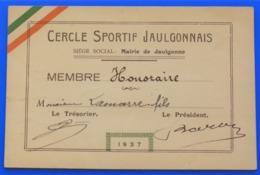 1937 MAIRIE DE JAULGONNE CERCLE SPORTIF JAULGONNAIS  CARTE TRICOLORE  Aisne,02  EnrégionHauts-de-France. - Sports