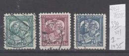 102K487 / 1935 - Michel Nr. 339-341 Used ( O ) Saints Cyril And Methodius , Czechoslovakia - Gebruikt