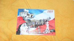 CARTE DE 1989../ BICENTENAIRE DE LA REVOLUTION N°002052..CACHET LIBERTE EGALITE FRATERNITE FORCE OUVRIERE + TIMBRE - Cartes-Maximum