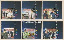 ALDERNEY AURIGNY 2003  COMMUNITY 3RD. SERIES POLICE  S.G. 217-222 U.M.  N.S.C. - Alderney