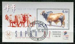 Südafrika South Africa Mi# Block 54 Gestempelt(FDC/SST)/used/CTO - Fauna Cattle - Ohne Zuordnung