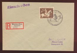 Deutsches Reich R Brief EF 854 Galopprennen Das Braune Band SST München Riem - Deutschland